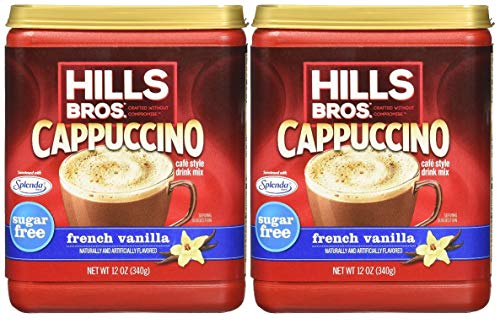 Hills Bros. Sugar Free French Vanilla Cappuccino Drink Mix (Pack of 2)
