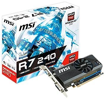 MSI Radeon R7 240 4GD3 LP - Tarjeta gráfica Radeon R7 240 ...