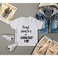 Fruit Snacks and Gangster Rap/Baby Shirt/Funny Baby Bodysuit/Baby Gift/Funny Baby Shirt/Kids Clothes/Baby Shower Gift/Trendy Toddler/Graphic Tshirt/Baby Clothes