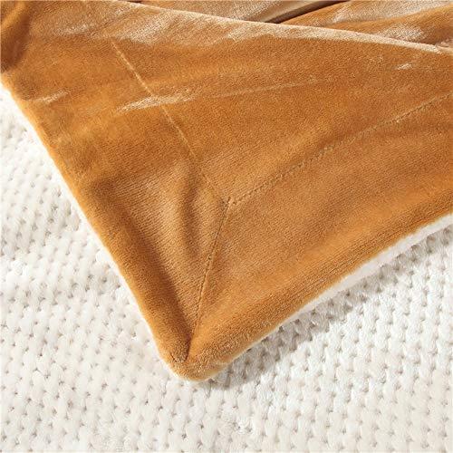 毛布厚いダブルレイヤー4シーズンレジャーナップキルトは、自宅の車の旅行に適して (Color : ブラウン, サイズ : 100*120CM) B07MT43C4W ブラウン 100*120CM