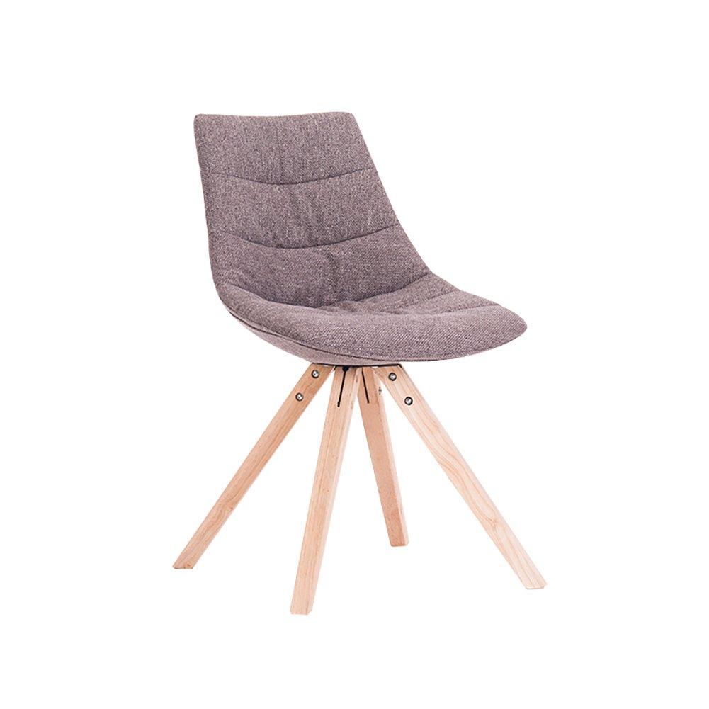 ZJMダイニングチェア快適な背もたれの椅子ソリッドウッドの椅子創造的な布張りのラウンジチェア (色 : Light coffee, サイズ さいず : Set of 1) B07F9K1ZGQ Set of 1 Light coffee Light coffee Set of 1