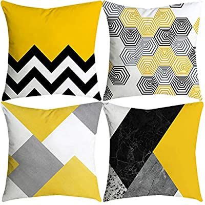 LBPSUUEW Pillowcases Pineapple Leaf Yellow Pillow Case Sofa Car Waist Throw Cushion Cover Home Decor