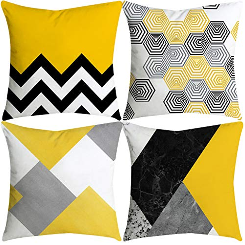 WWFFOO Throw Pillow Cases Home Decorative Soft Polyester ...