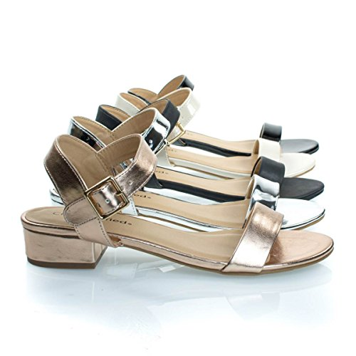 Shoes Low Womens Classified Open Toe Sandal Summer Chunky Block Dress Heel City Gold Rose 5Px0TqqU