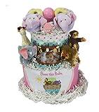 Noah's Ark Diaper Cake Girl Pink
