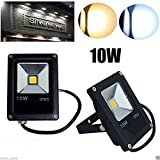 Excellent 2X 10W LED Flood Light Floodlights Security Light Outdoor Indoor Garden Lamp (Warm White)