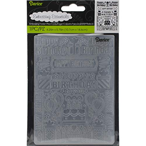 Embossing Folder Birthday Collage 4.25 X 5.75 Inches (6 Pack) by Generic (Image #1)