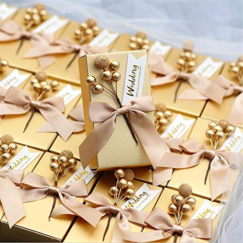 30 Pieces Marriage Creative Candy Box/European Style Gift Box/Golden Candy Gift Premium Box,B-1383.5cm ()