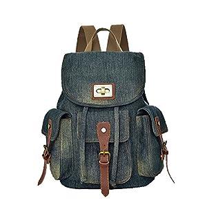 K-mover Women's And Girl's Denim Backpack School Bag Travel Bag Shoulder Bag