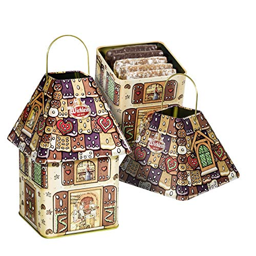 Wicklein Lantern Tin With 2 Types of Elisen Lebkuchen - NEW DESIGN!