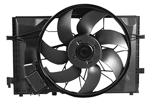 (Dual Radiator and Condenser Fan Assembly - Cooling Direct For/Fit MB3000102 01-07 Mercedes-Benz C-Class 05-06 C55 03-05 CLK-Class 3.2L)