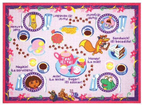 Gertmenian Dora The Explorer Tea Party Play Rug
