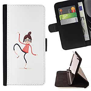 Momo Phone Case / Flip Funda de Cuero Case Cover - Mujer Spaghetti;;;;;;;; - Sony Xperia M2