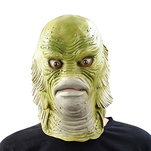 PARTY STORY Monster Fish Mask Halloween Dress Up Latex Novelty Costume Rubber Full Head -