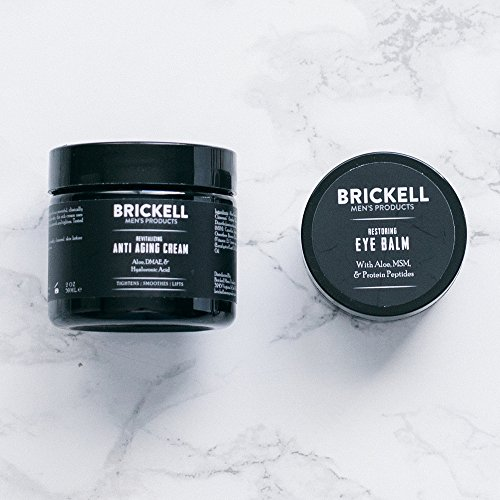 Brickell Men's Ultimate Anti-Aging Routine - Anti-Wrinkle Night Face Cream and Eye Cream to Reduce Puffiness, Wrinkles, Dark Circles, Under Eye Bags - Natural & Organic (Scented) by Brickell Men's Products (Image #2)
