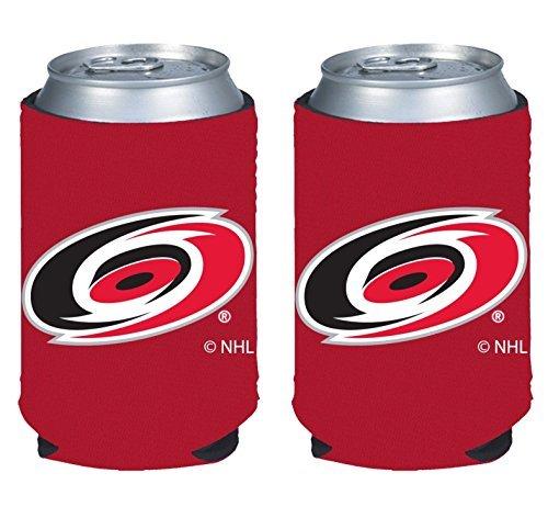 Color Logo Can Kaddy Holder Koozie Cooler 2-Pack (Carolina Hurricanes) ()
