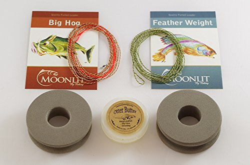 Dry Fly & Nymph Fly Fishing Leader Combo Pack   Featherweight & Big Hog furled leaders