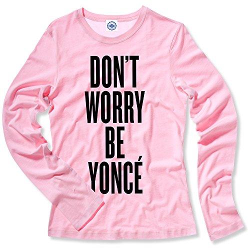 Hank Player Worry Be Yoncé' Women's Long Sleeve T-Shirt (S, Vintage - Beyonce Vintage