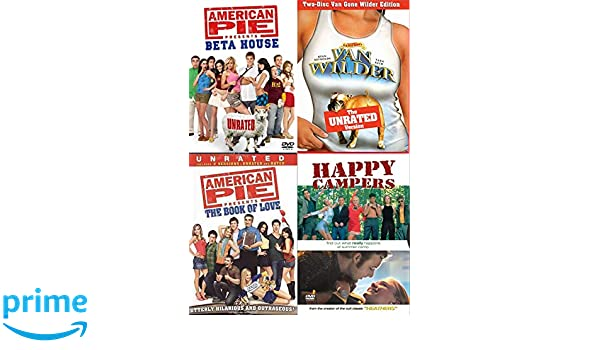 7bfb8b36f Amazon.com: Happy Summer College Comedies - American Pie Beta House, Van  Wilder National Lampoon + Book of Love & Happy Campers 4-Comedy DVD Wild  Party ...