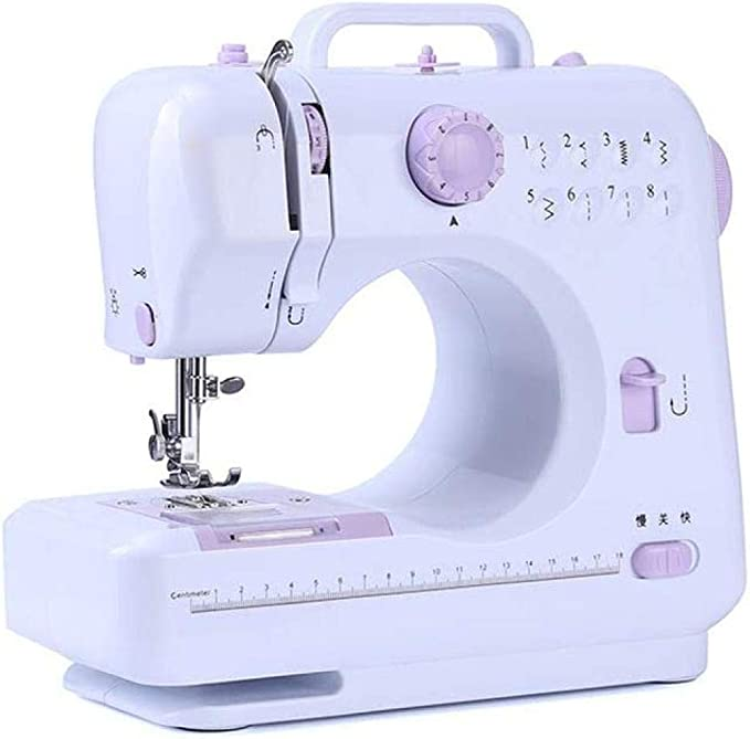 Yuaer Máquina de coser portátil de mano 12 pines 2 velocidades LED ...