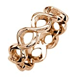 Infinity Rings Jewelry in 18k Rose Gold - size 13.5