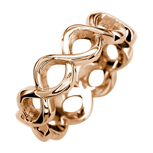 Infinity Ring Mom in 14K Rose Gold size 13.5 by Sziro Infinity Rings