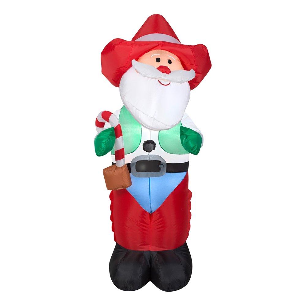 Amazon.com: Gemmy Airblown Inflatable Cowboy Western Santa with ...
