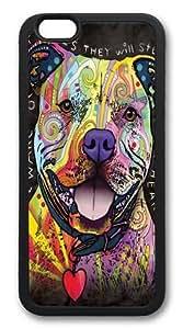 iphone 6 plus Case, iphone 6 plus Cases -Beware of Pit Bulls TPU Silicone Rubber Case Cover for iphone 6 plus and iphone 6 plus 5.5 inc Black