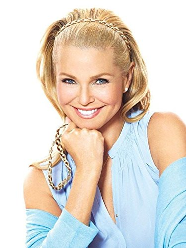 Double Braided Headband - Christie Brinkley 3/8 Thick No Slip Grip 2 Braids Wrapped Adjustable Band