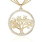 Family Tree of Life Pendant Necklace Necklace for Women Mother's Day Gift Gold
