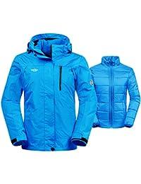 Women's 3-In-1 Waterproof Ski Jacket Windproof Puff Liner Winter Coat