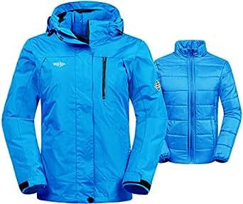 Amazon.com: Wantdo Women's 3-in-1 Waterproof Ski Jacket