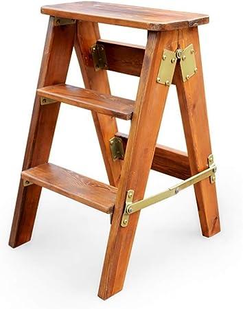 YIGEYI Taburete Escalera Escalera Plegable de Madera Escalera Plegable portátil Taburete Multifuncional Escalera en Rack Biblioteca en casa Taburete Vertical Carga máxima 150 kg (Color : 2): Amazon.es: Hogar