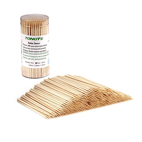 TONGYE Premium Natural BBQ Bamboo Skewers for Shish Kabob, Grill, Appetizer, Fruit, Corn, Chocolate Fountain, Cocktail and More Food, More Size Choices 4