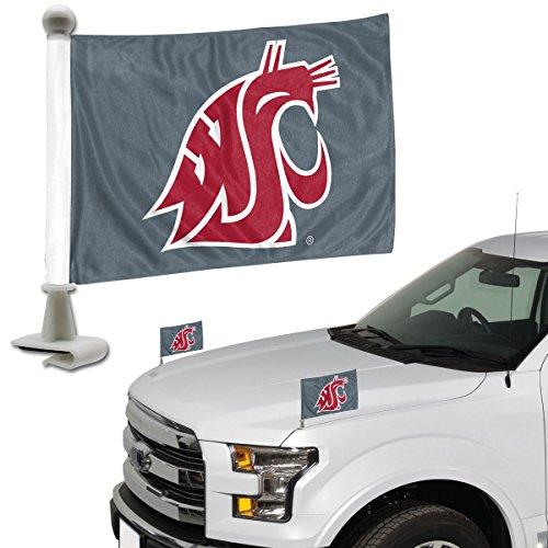ProMark NCAA Washington State Cougars Flag Set 2Piece Ambassador Stylewashington State Cougars Flag Set 2Piece Ambassador Style, Team Color, One Size (State Cougars Washington Set)