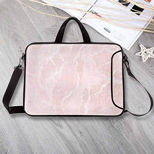 (Marble Wear-Resisting Neoprene Laptop Bag,Murky Gemstone Scratches Nature Mineral Crystal Style Beauty Elegance Print Decorative Laptop Bag for Laptop Tablet PC,13.8