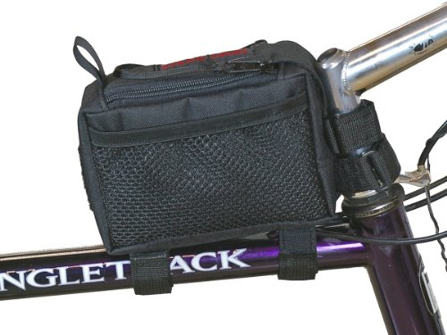 Bushwhacker Diablo Black Bicycle Top Tube Bag Cycling Frame Pack Bike Stem Bag Rear Front Accessories Handlebar