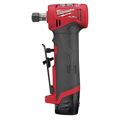 Milwaukee 2485-22 M12 FUEL Lithium-Ion Right Angle Die Grinder Kit 2 Ah