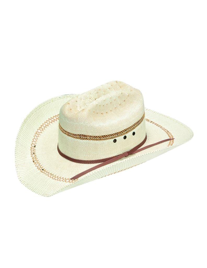 Ariat Boys' Bangora Double S Hat With Eyelets Tan Large