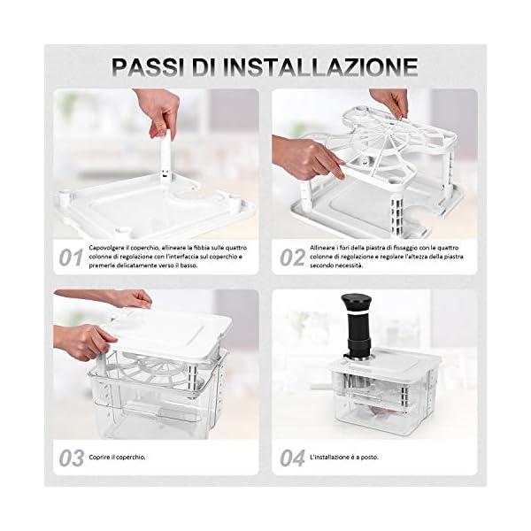 VPCOK 7 in 1 Sous Vide Contenitore Set 12L con Coperchio Roner Cucina Professionale Compatibile Tutte Marche ANOVA, ECC… 4