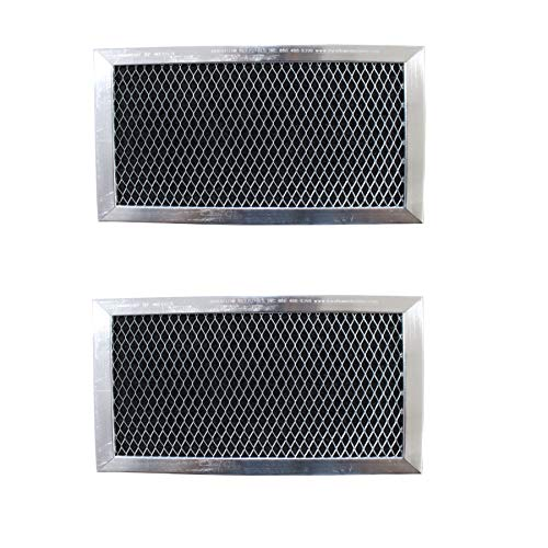 - Replacement Carbon Filters compatible with GE: WB02X10733, JX81B - 6 3/8 x 8 11/16 x 3/8 (2-Pack)