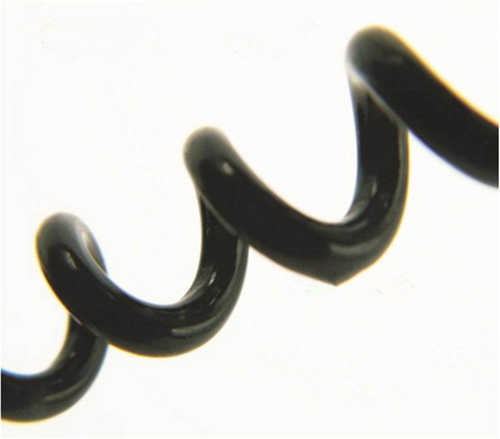 Interesting/® 4PCS Black Spring Cord Rope Swivel Lobster Clasp Keyring Chain Strap 14+20.5+26+36CM