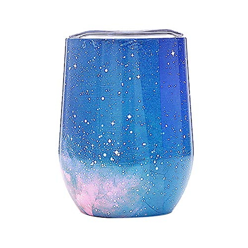 Hot Sale!UMFun Colorful Stainless Steel Stemless Wine Water Cup Double Wall Vaccum Insulation Water Cup (F) -