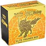 Pokemon TCG Sun and Moon Ultra Prism Necrozma Elite Trainer Box Dusk Mane Card and Dice Set With 8 Booster Packs, Player's Guide, 6 Damage Counter Dice, Competition Coin Flip Die & More