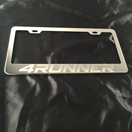 Toyota 4 Runner Laser Engraved Stainless Steel Chrome Polish License Plate Frame (Runner Stainless)
