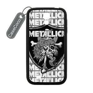CASECOCO(TM) Metallica Samsung Galaxy S4 Case - Protective Hard Back / Black Rubber Sides Case for Samsung Galaxy S4