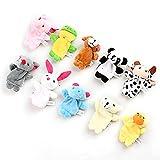 Plush Toy Finger Puppets Tell Story Props Animal Doll Kids Toys Children Gift (10 Animal Group) 10 pcs/lot