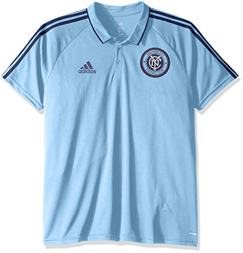 fan products of MLS New York City FC Men's Authentic Sideline Coaches Polo, XX-Large, Navy