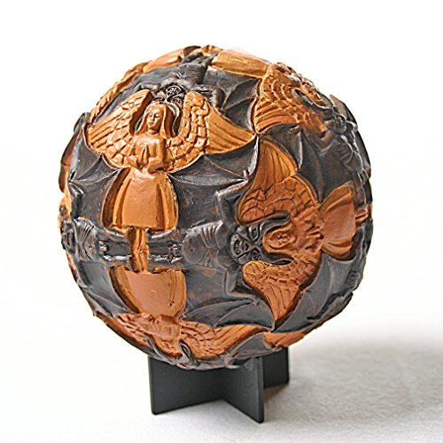 Angel Paperweight (Sphere Angels and Devils Tessellation Round Orb Paperweight by Escher 4.5H)