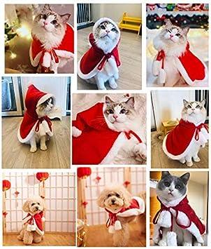 Medianas Perros Ropa Cosplay De Navidad (S) LLMZ Disfraz de Navidad para Gatos Capa para Mascotas Disfraz de Navidad Vestidos para Mascotas para La Decoraci/ón De Las Peque/ñas